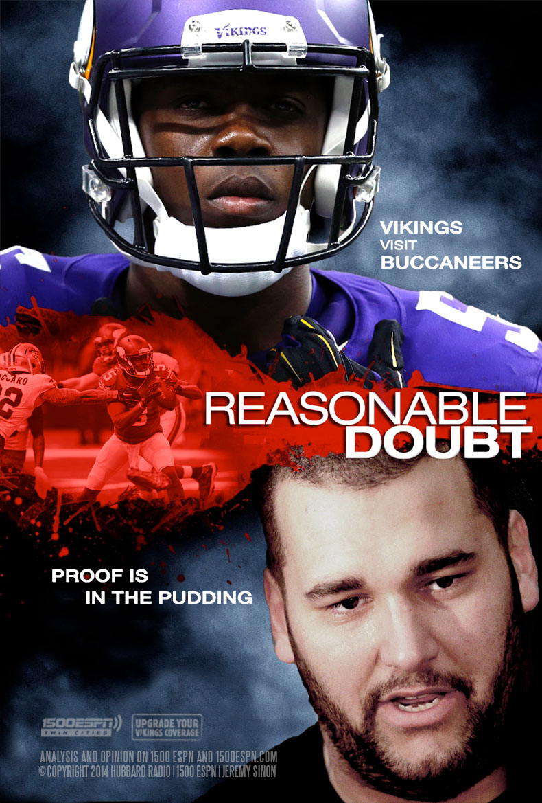 Vikings visit Buccaneers - Reasonable Doubt (Bridgewater, Kalil) Proof is in the Pudding
