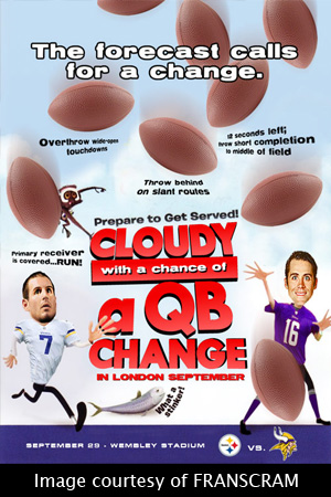 Cloudy with a chance of a QB change in London