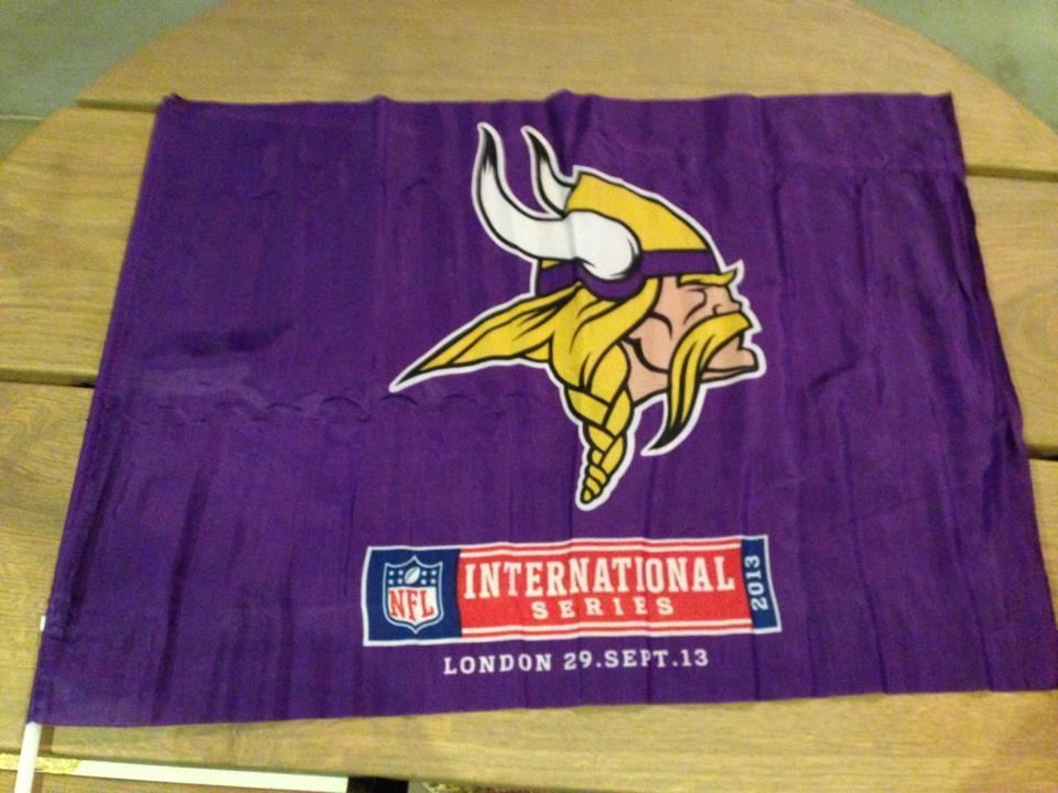 Vikings flag on every seat at Wembley stadium