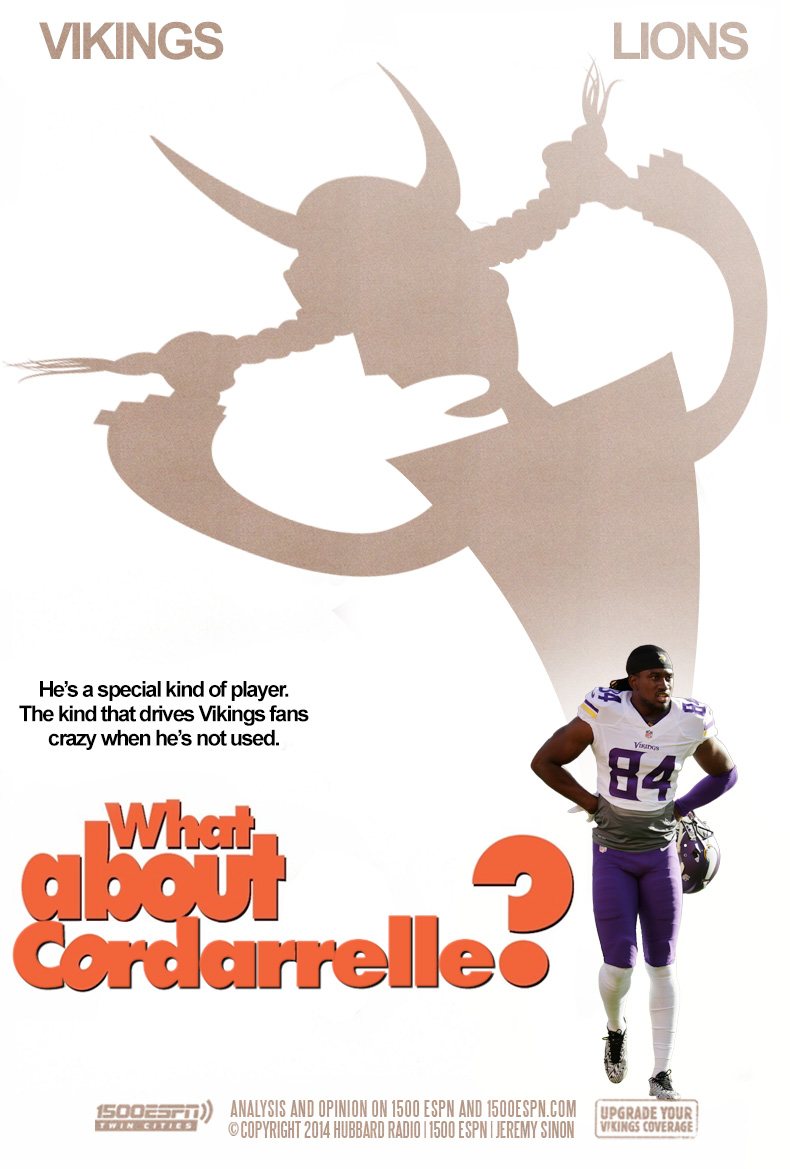 He's a special kind of player.  The kind that drives Vikings fans crazy when he is not used.  What about Cordarrelle?